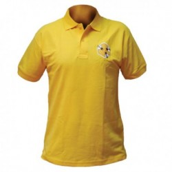 Футболка мужская желтая с вышивкой
