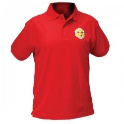 Футболка мужская красная с вышивкой