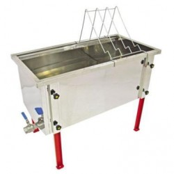 Стол для распечатки Дадант 750 мм, укрепленный из пищевой нержавеющей стали. БЕЗ КЛАПАНА