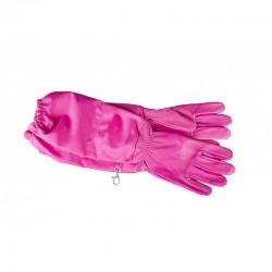 Перчатки кожаные женские розовые