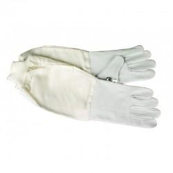 Перчатки кожаные со стяжкой
